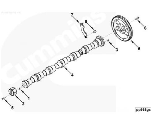 Вал распределительный - 3970117