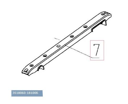 3518060-18100Б - Направляющая цепи транспортера в сборе с накладкой