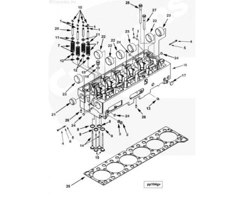 Головка блока цилиндров - 3104450