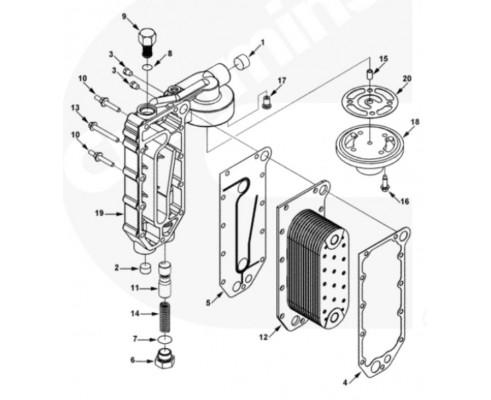 Головка маслоохладителя - 3966884