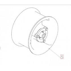 Ролик привода главного контрпривода молотилки d250 плоский