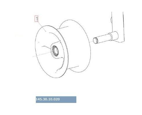 145.30.10.020 - Ролик натяжника привода молотилки
