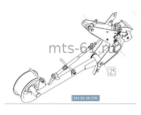 101.01.10.270 - Механизм натяжения привода молотилки