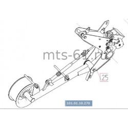 Механизм натяжения привода молотилки