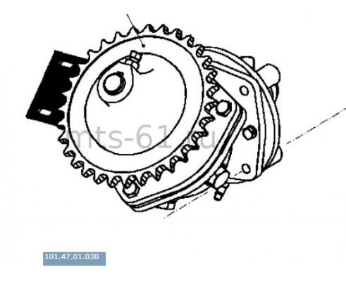 101.47.01.030 - Редуктор угловой наклонного шнека бункера