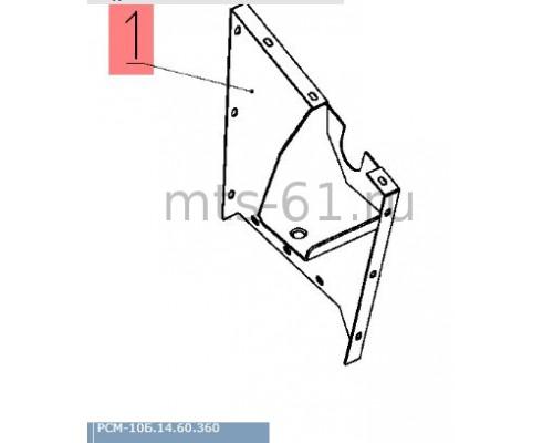 10Б.14.60.360 - Боковина левая (под валом соломотряса)