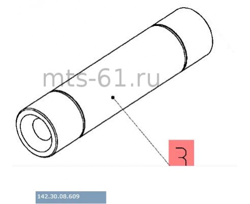 142.30.08.609 - Ось шкива обводного привода