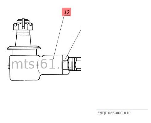 ЕДЦГ 104.000-01 (ГА-25070) - Наконечник правый гидроцилиндра поворота