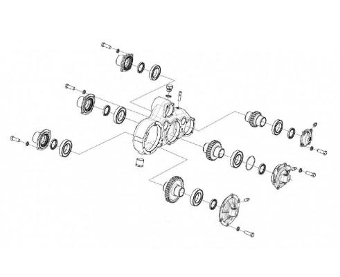 Редуктор верхних вальцев - КВК 0112100
