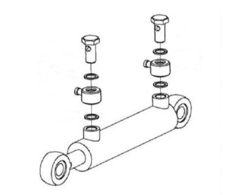Гидроцилиндр силосопровода - КВК 0602510А