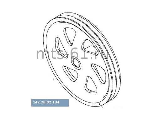 142.28.02.104 - Шкив контрпривода выгрузного устройства 2-х ручьевой d-376