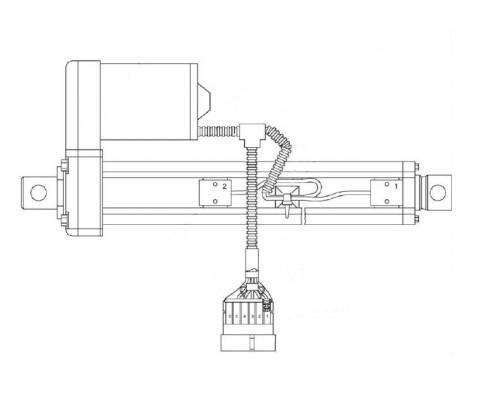 Электромеханизм крышки заточного устройства - КВК 0701610