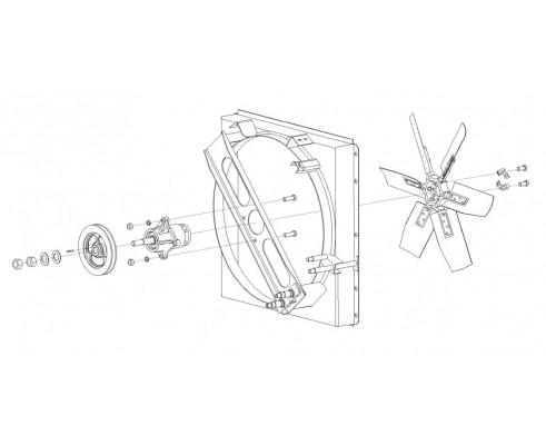 Привод вентилятора - КГС 0116250Б