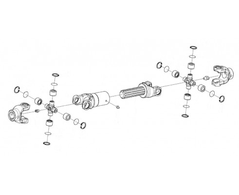 Вал карданный телескопический-КГС 0112200