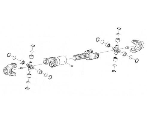 Вал карданный телескопический-КГС 0112400