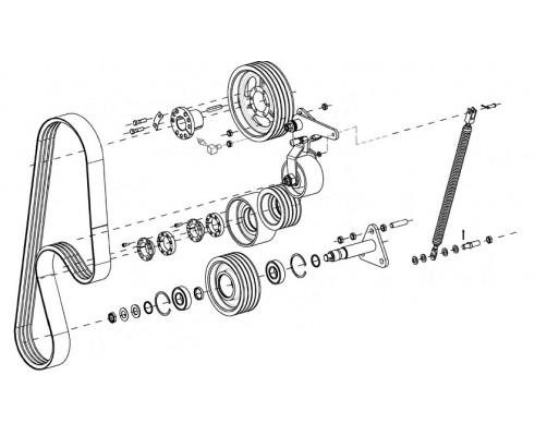 Привод доизмельчающего устройства-КВС-1-0132100