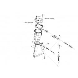 Основание силосопровода и механизм поворота-КВС-1-0143000