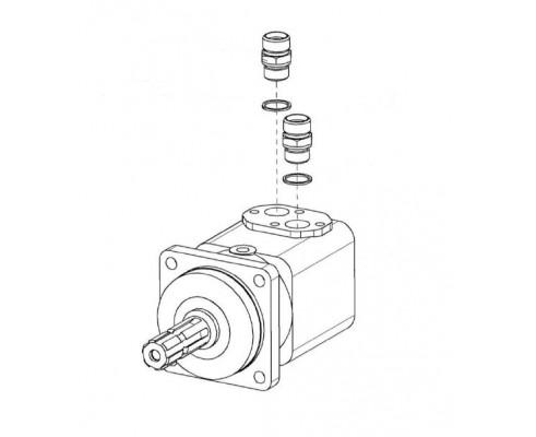Гидромотор привода адаптеров-КГС 0115380
