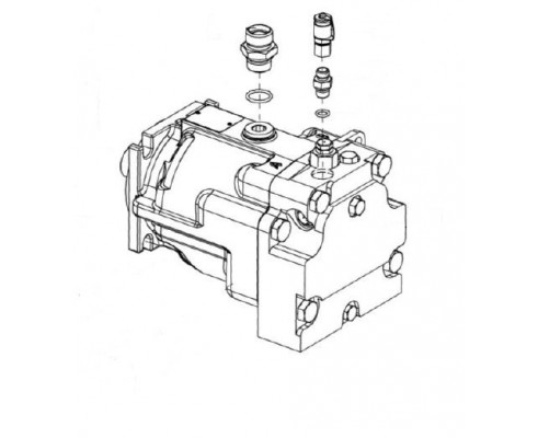 Гидромотор привода питающего аппарата-КВС-2-0604210