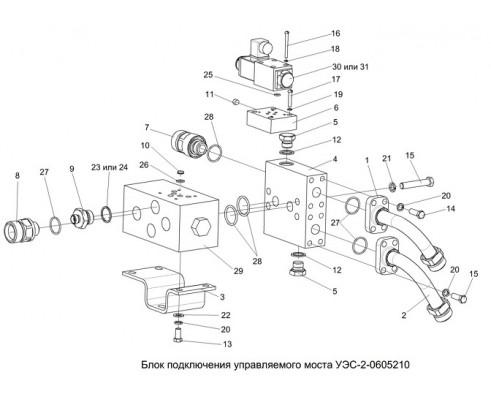 Блок подключения управляемого моста-уэс-2-0605210