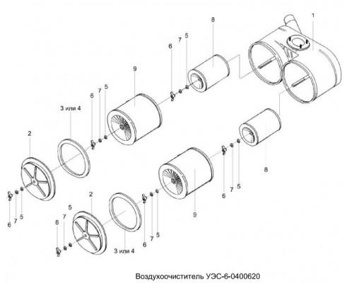Воздухоочиститель-уэс-6-0400620