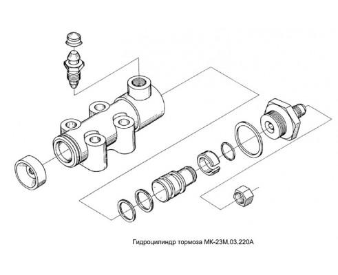 Гидроцилиндр тормоза-мк-23м.03.220а