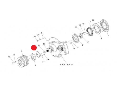 Вентилятор - КЗК-12-3-0106480