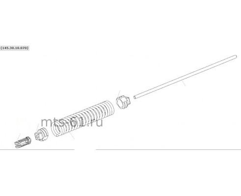 145.30.10.070 - Пружина натяжника привода молотилки