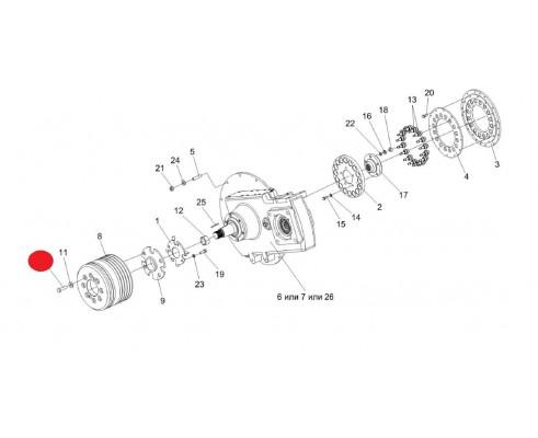 Болт - КЗК-12-3-0106604