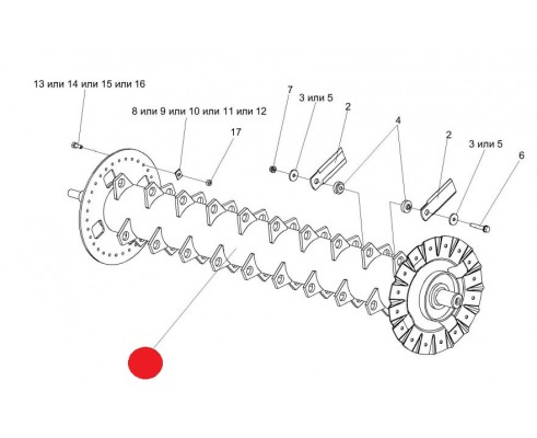 Вал ротора - КЗК-10-0290150В
