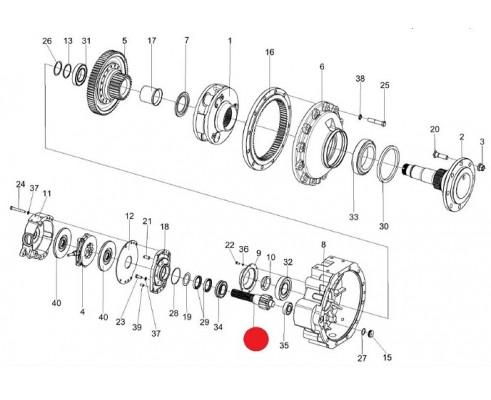 Вал-шестерня -МК-23М.03.655А