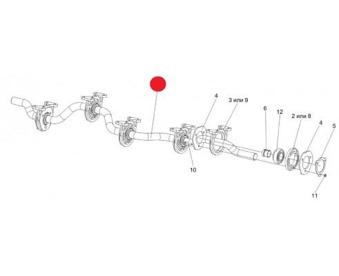 Вал коленчатый ведомый (голый) -КЗК-12-0212602