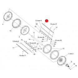 Бич барабана левый (КЗС-1218/GS-12/GS-10) -КЗК-10-0104502-01