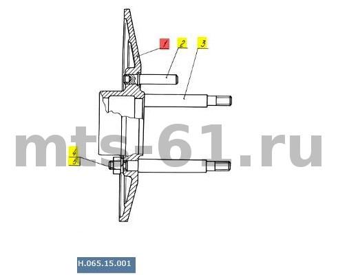 Н.065.15.001 - Диск ведомый нижнего шкива вариатора