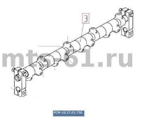 10.27.01.750 (3518050-111550) - Труба пальчикового механизма шнека