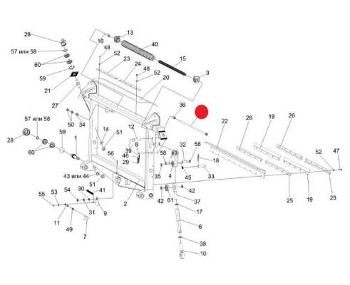 Болт регулировочный - КЗК-12-1808520