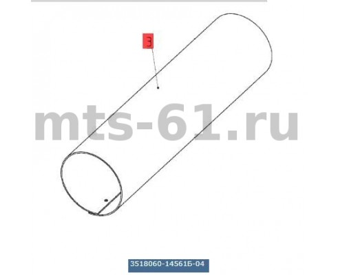 3518060-14561Б-04 - Кожух верхнего вала наклонной камеры