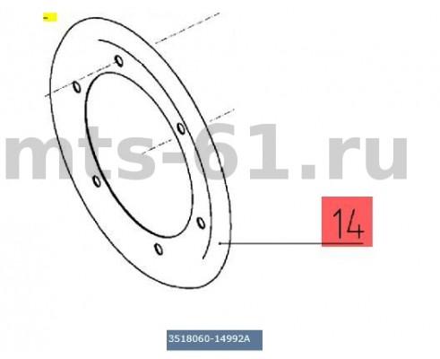 3518060-14992А - Щиток защитный шкива верхнего вала