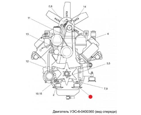 Амортизатор - уэс 0121010