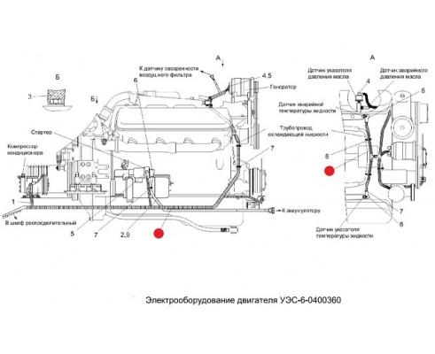 Жгут моторной установки - уэс-6-0700270в