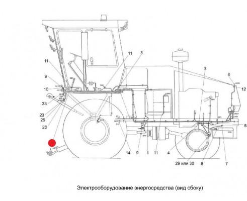 Жгут передних фонарей - уэс-7-0700520б