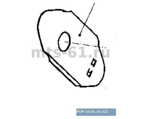 10.01.15.422 - Заслонка фиксатора тяги