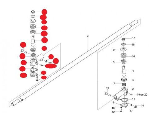 Головка рулевой тяги - КИС 0109160-01