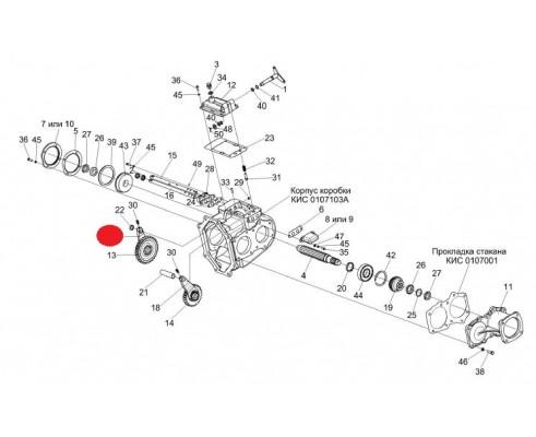 Вилка переключения I и III передач - КИС 0107611