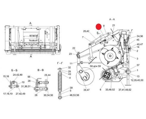 Гидросистема подборщика - КВС-4-3912000-01