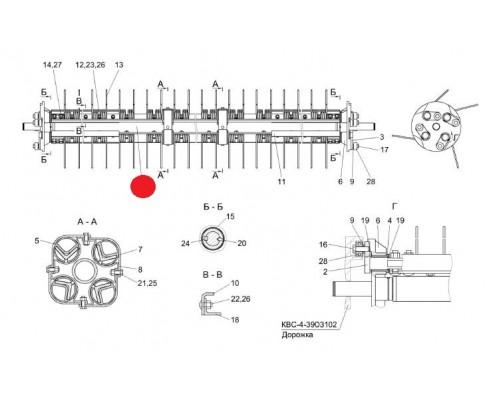 Вал - КВС-4-3903010