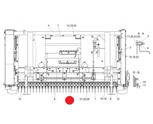 Вал фиксатора - КВС-4-3900643