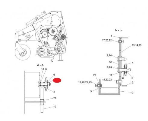 Болт - КВС-4-3900627-01