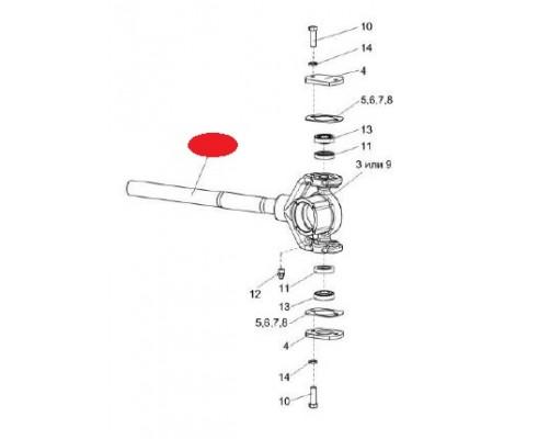 Вал колебателя - КИС 0216150