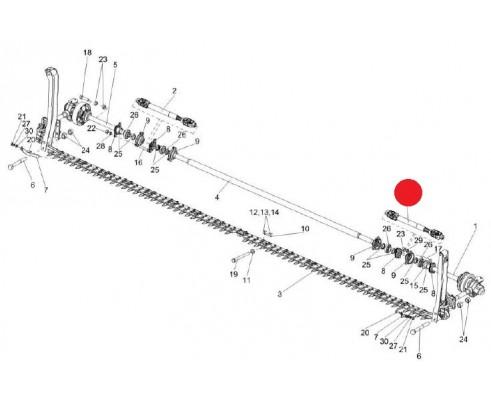 Вал карданный телескопический - ЖВФ 0970010